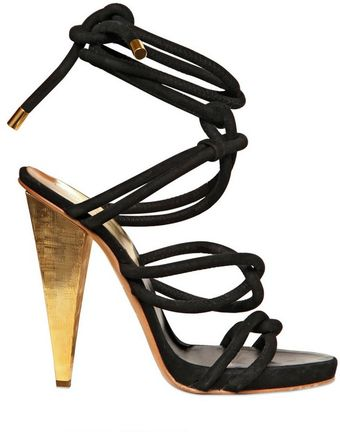 DSquared2 Macy Suede and Metal Sandals - Lyst