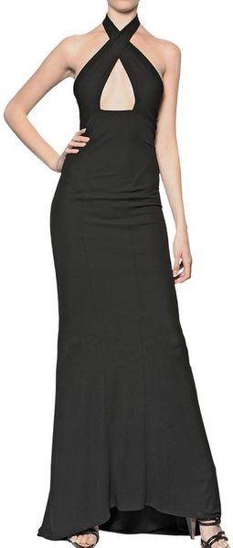 DSquared2 Viscose Jersey Long Halter Neck Dress - Lyst