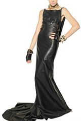DSquared2 Zipped Nappa Leather Long Dress - Lyst