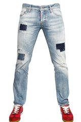 DSquared2 19cm Denim Patch Slim Fit Jeans - Lyst