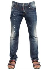 DSquared2 19cm Neon Paint Slim Fit Denim Jeans - Lyst