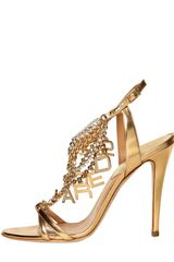 DSquared2 120mm Laminated Leather Logo Sandals - Lyst