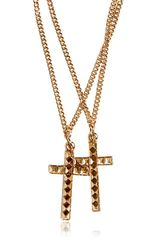 DSquared2 Cross Pendant Brass Necklace - Lyst