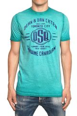 DSquared2 Super Faded Dyed Cotton Jersey Tshirt - Lyst