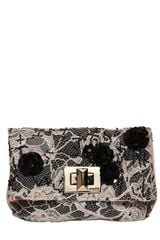 Emilio Pucci Embroidered Satin Lace Clutch - Lyst