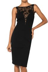 Emilio Pucci Lace On Viscose Punto Milano Dress - Lyst