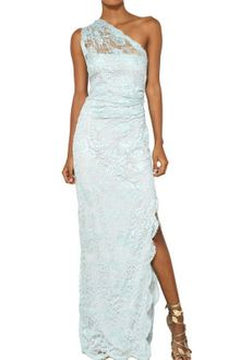 Emilio Pucci Viscose Lace Long Dress - Lyst