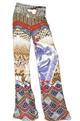 Etro Printed Techno Jersey Trousers
