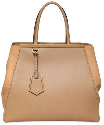 Fendi Large 2jours Structured Leather Bag - Lyst