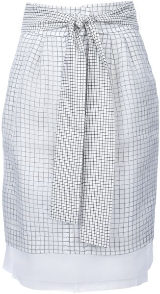 Fendi Belted Check Shirt - Lyst