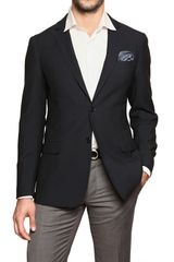 Ferragamo Two Button Wool Piquet Blazer - Lyst