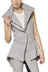 Gareth Pugh Stretch Cotton Denim Vest - Lyst