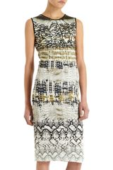 Giambattista Valli Soft Reptile Print Dress - Lyst
