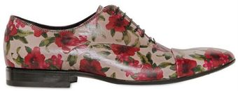 Gianni Barbato Floral Print Leather Lace Up Shoes - Lyst