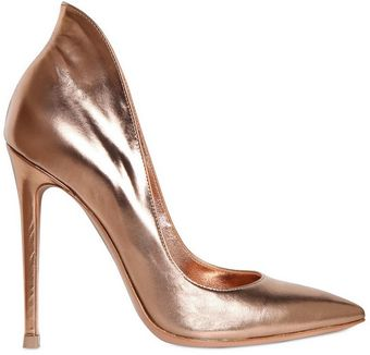 Gianvito Rossi 110mm Metallic Calfskin Pumps - Lyst