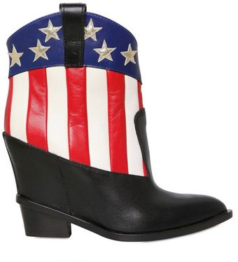 Giuseppe Zanotti Stars and Stripes Calf Low Boots - Lyst