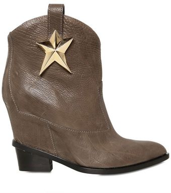 Giuseppe Zanotti Hammered Leather Low Boots - Lyst