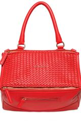 Givenchy Medium Pandora Woven Nappa Leather Bag - Lyst