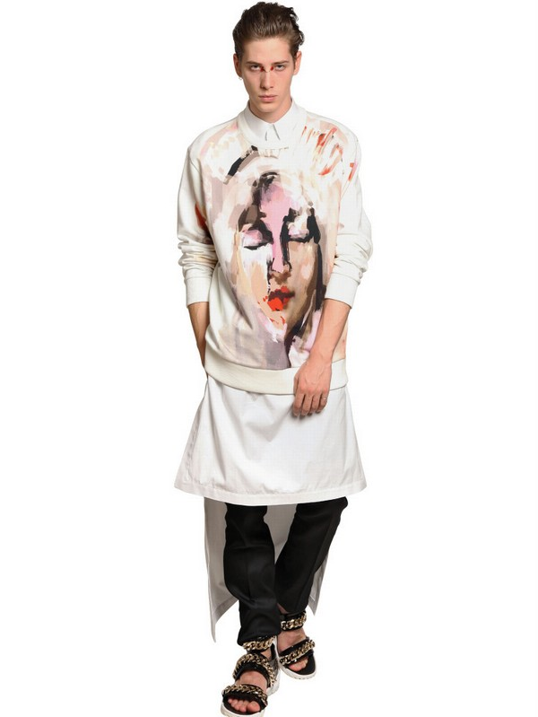 Givenchy Cotton Poplin Sleeveless Long Shirt In White For