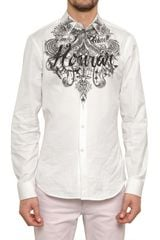 Givenchy Tattoo Honor Print Cotton Poplin Shirt - Lyst