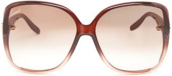 Gucci Shaded Brown Sunglasses - Lyst