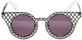 House Of Holland Cage Fighters Brass Acetate Sunglasses - Lyst