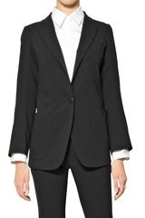 Jil Sander Stretch Wool Poplin Jacket - Lyst