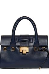 Jimmy Choo Small Rosalie Grained Leather Top Handle - Lyst