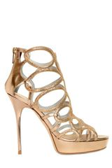 Jimmy Choo 120mm Blast Glitter Leather Sandals - Lyst