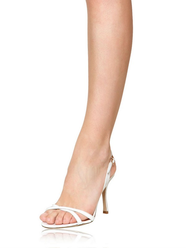 5432f5083a28 Lyst - Jimmy Choo 85mm India Patent Leather Sandals in White