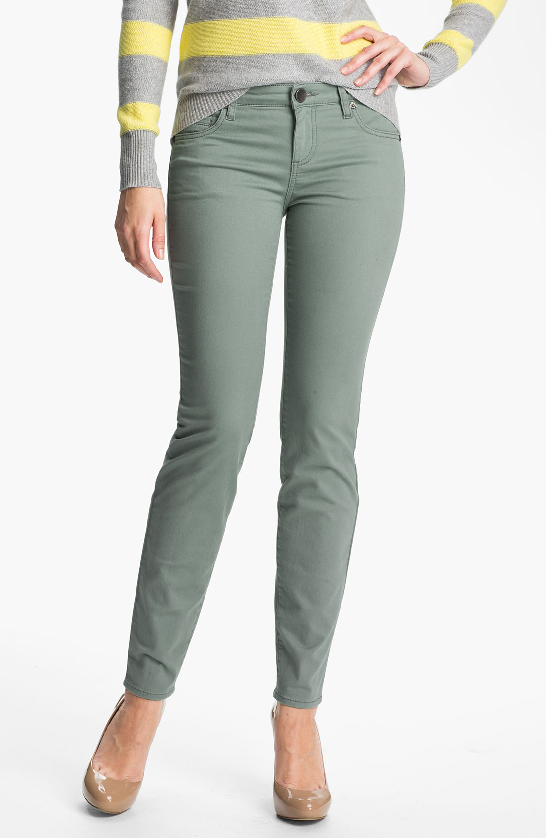 Kut From The Kloth Diana Colored Skinny Jeans in Green ...