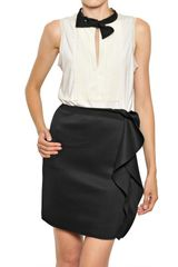 Lanvin Techno Pleated Bamboo Jersey Top - Lyst