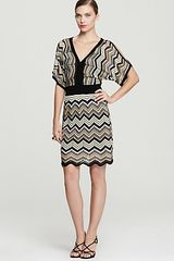 Laundry By Shelli Segal Printed Dress Split Sleeve - Lyst