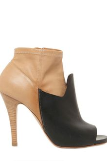 Maison Martin Margiela 100mm Two Tone Leather Open Toe Boots - Lyst