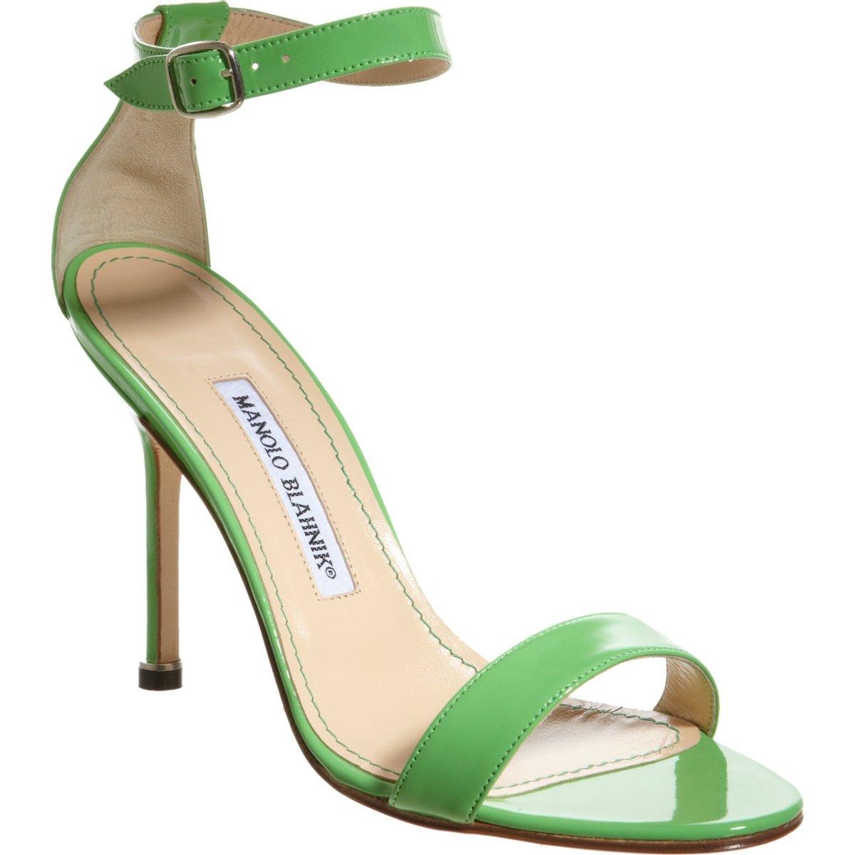 Shoeniverse: Chaos green patent sandals