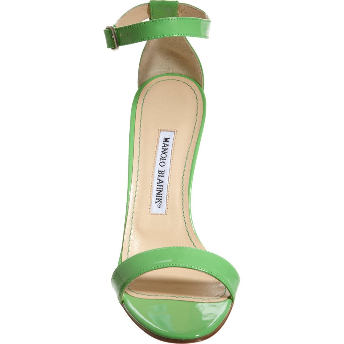 Strappy Green Heels - Is Heel