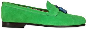 Manuel Vanni Crocodile Tassels On Suede Loafers - Lyst