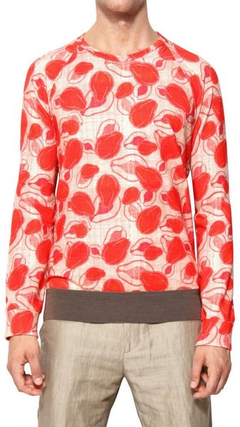 Marc Jacobs Papaya Print Light Fleece Sweatshirt - Lyst