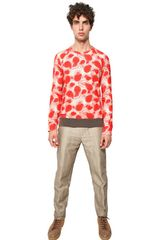 Marc Jacobs Papaya Print Light Fleece Sweatshirt in Red for Men - Lyst