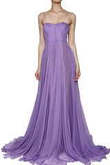 Maria Lucia Hohan Silk Muslin Front Drape Long Dress