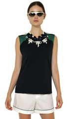 Marni Embroidered Soft Cotton Jersey Tank Top