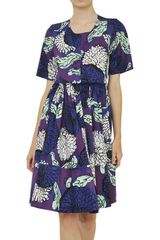 Marni Printed Cotton Poplin Pleated Dress - Lyst