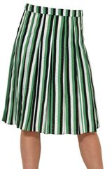 Marni Striped Viscose Silk Skirt - Lyst