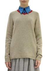 Marni Contrast Collar Sweater - Lyst