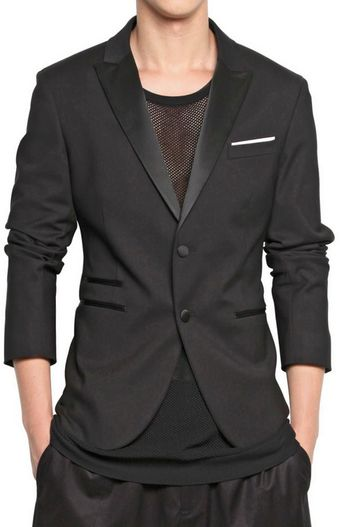 Neil Barrett Stretch Cotton Nylon Tuxedo Jacket - Lyst
