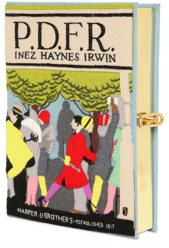 Olympia Le-Tan Pdfr Cotton Book Clutch - Lyst