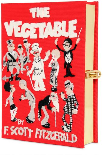 Olympia Le-Tan The Vegetable Cotton Book Clutch - Lyst