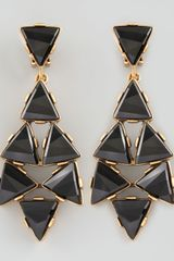 Oscar de la Renta Triangle Cluster Clip Earrings  - Lyst