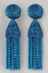 Oscar de la Renta Short Chain Tassel Earrings  - Lyst