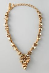 Oscar de la Renta Triangle Cluster Necklace  - Lyst